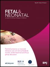 Archives of Disease in Childhood - Fetal and Neonatal Edition: 100 (3)