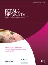 Archives of Disease in Childhood - Fetal and Neonatal Edition: 101 (4)