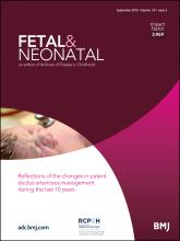 Archives of Disease in Childhood - Fetal and Neonatal Edition: 101 (5)