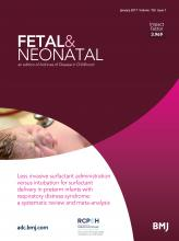 Archives of Disease in Childhood - Fetal and Neonatal Edition: 102 (1)