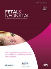 Archives of Disease in Childhood - Fetal and Neonatal Edition: 102 (3)