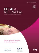 Archives of Disease in Childhood - Fetal and Neonatal Edition: 102 (4)