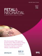 Archives of Disease in Childhood - Fetal and Neonatal Edition: 103 (2)