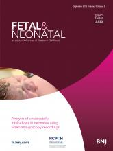 Archives of Disease in Childhood - Fetal and Neonatal Edition: 103 (5)