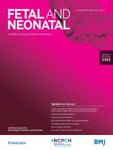 Archives of Disease in Childhood - Fetal and Neonatal Edition: 104 (1)