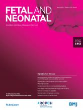 Archives of Disease in Childhood - Fetal and Neonatal Edition: 104 (2)
