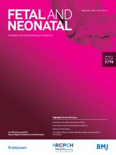 Archives of Disease in Childhood - Fetal and Neonatal Edition: 105 (3)