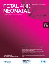 Archives of Disease in Childhood - Fetal and Neonatal Edition: 105 (5)
