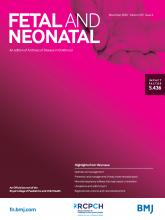 Archives of Disease in Childhood - Fetal and Neonatal Edition: 105 (6)