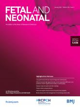 Archives of Disease in Childhood - Fetal and Neonatal Edition: 106 (1)