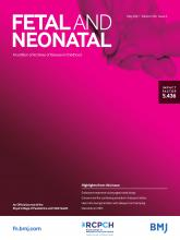 Archives of Disease in Childhood - Fetal and Neonatal Edition: 106 (3)