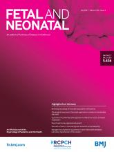 Archives of Disease in Childhood - Fetal and Neonatal Edition: 106 (4)