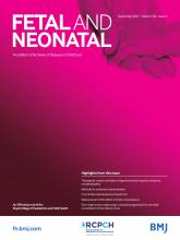 Archives of Disease in Childhood - Fetal and Neonatal Edition: 106 (5)