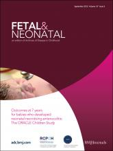 Archives of Disease in Childhood - Fetal and Neonatal Edition: 97 (5)
