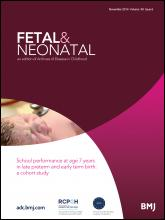Archives of Disease in Childhood - Fetal and Neonatal Edition: 99 (6)